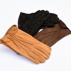 Men's Nabuk gloves cashmere...