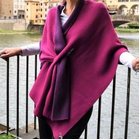 Firenze Reversible Poncho