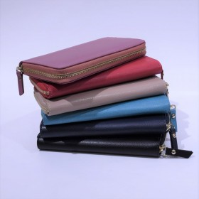 Leather Wallet with zipper
