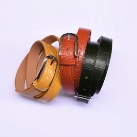 Ebe Croco Leather Belt